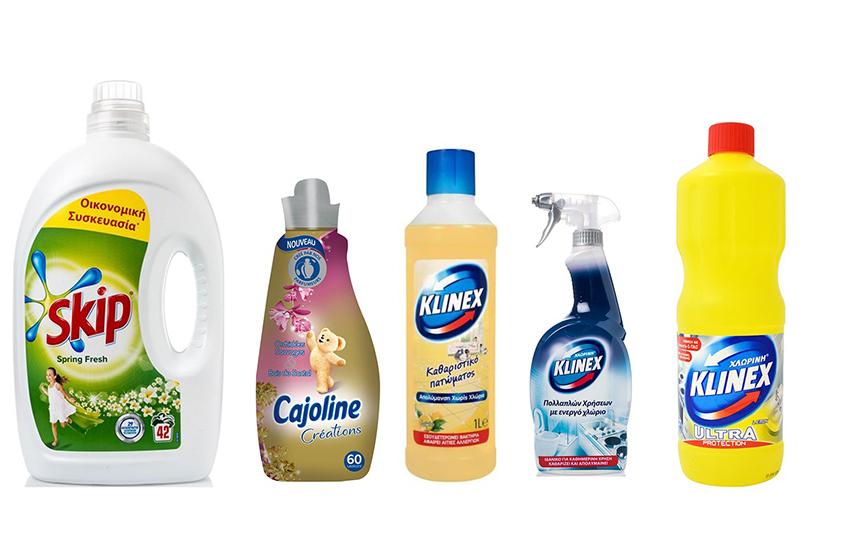 KIT KΑΘΑΡΙΟΤΗΤΑΣ: 17,5€ από 40€ για SKIP Υγρό- CAJOLINE Μαλακτικό - KLINEX Χλωρίνη - KLINEX Spray & KLINEX Καθαριστικό πατώματος