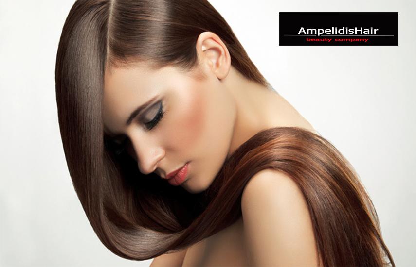 Απο 9,9€ για Full Πακετο Περιποιησης Μαλλιων που περιλαμβανει Βαφη ριζας, Κουρεμα, Ίσιωμα, Manicure & Θεραπεια Miracle Morpfer στο »Ampelidis Hair» σε Αιγαλεω & Άγιο Νικολαο