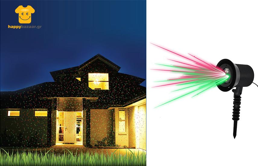 29,9€ από 49,9€ για Διακοσμητικό Προβολέα Laser LED Εξωτερικού Χώρου, ιδανικό για το σπίτι και την αυλή, για ένα φαντασμαγορικό αποτέλεσμα