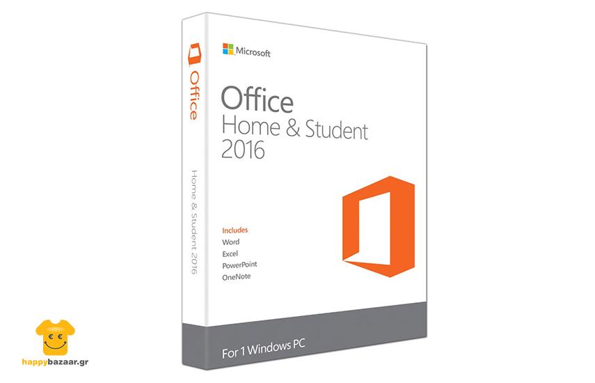59,9€ από 149,9€ για Microsoft Office Home and Student 2016 32/64 Bit for PC για Οικιακή Χρήση και Φοιτητές (Word - Excel - PowerPoint - OneNote)