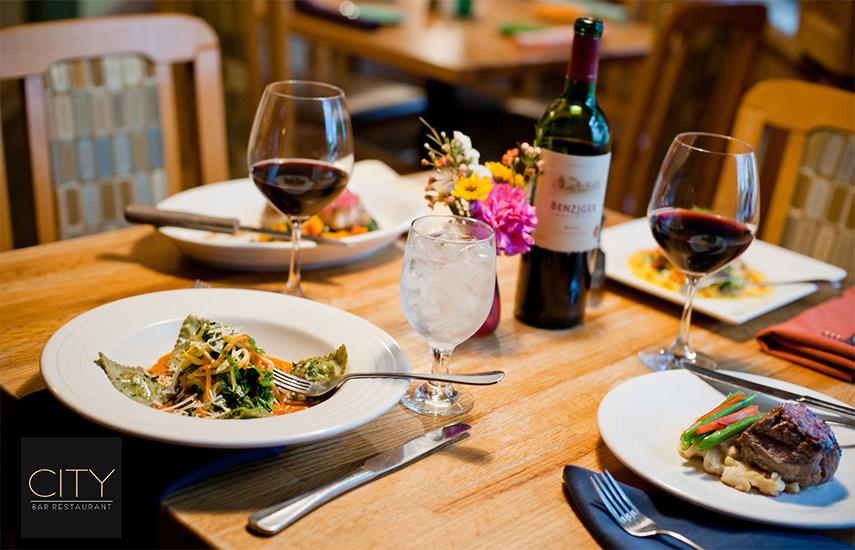 17€ απο 30€ για πληρες menu 2 ατομων, ελευθερη επιλογη, στο »City Kolonaki», το κορυφαιο bar-restaurant της Σκουφα