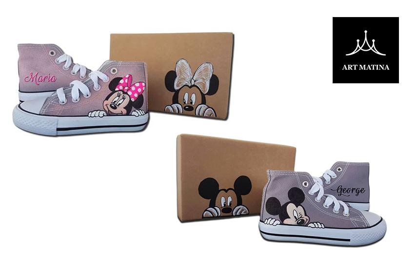 Από 56€ για Χειροποίητα Παπούτσια (Γυναικεία ή Παιδικά) με αναγραφή Ονόματος, Σχεδίου ή Ζωγραφιάς, με Δωρεάν Αποστολή
