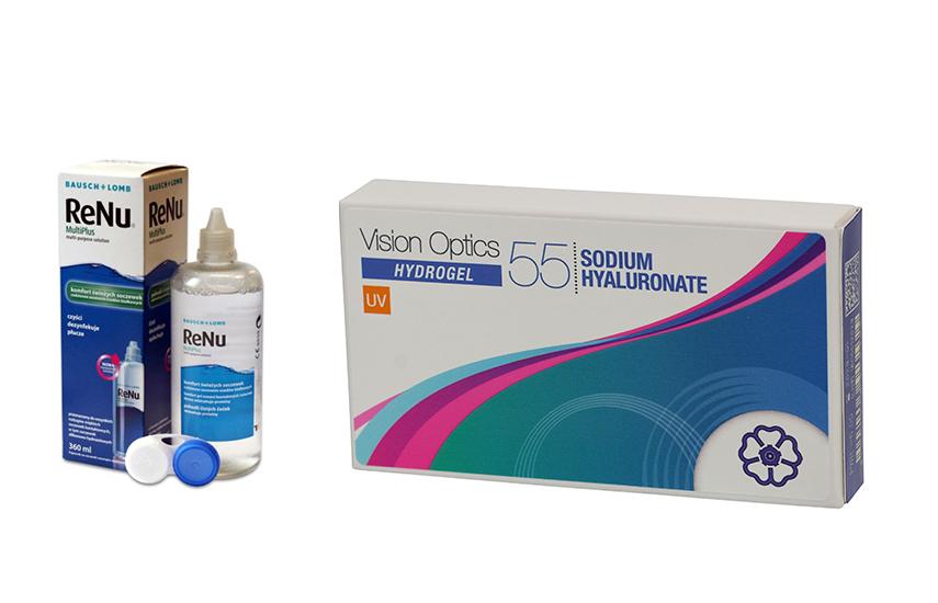 Φακοί Επαφής: 26,9€ από 69€ για 6 Μηνιαίους Φακούς Vision Optics 55 Sodium Hyaluronate & 1 Υγρό φακών ReNu 360ml με ΔΩΡΕΑΝ αποστολή σε όλη την Ελλάδα