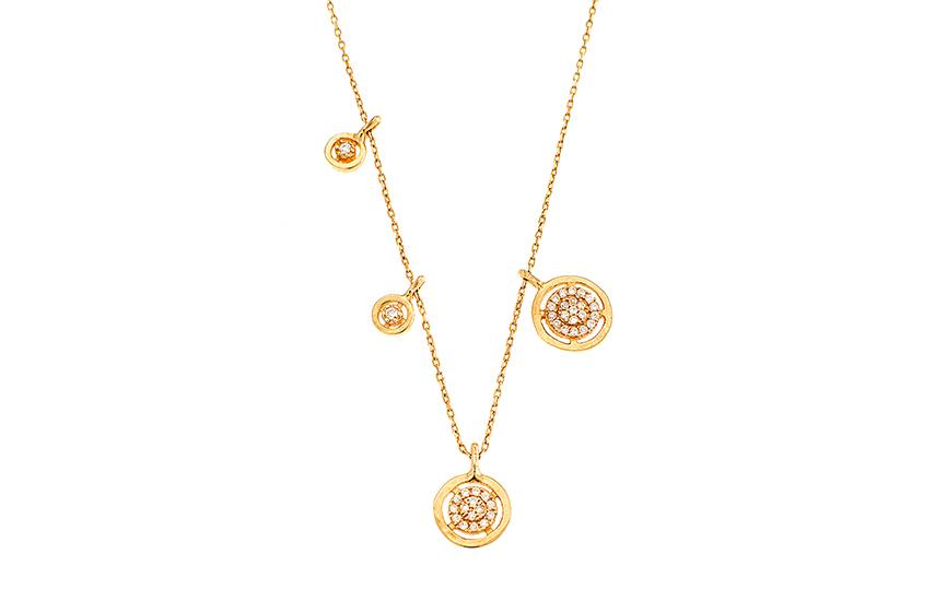 199€ από 286€ για Κολιέ Χρυσό με Ζιργκόν, από το Κοσμηματοπωλείο ''Αρλέτη'' στον Κορυδαλλό