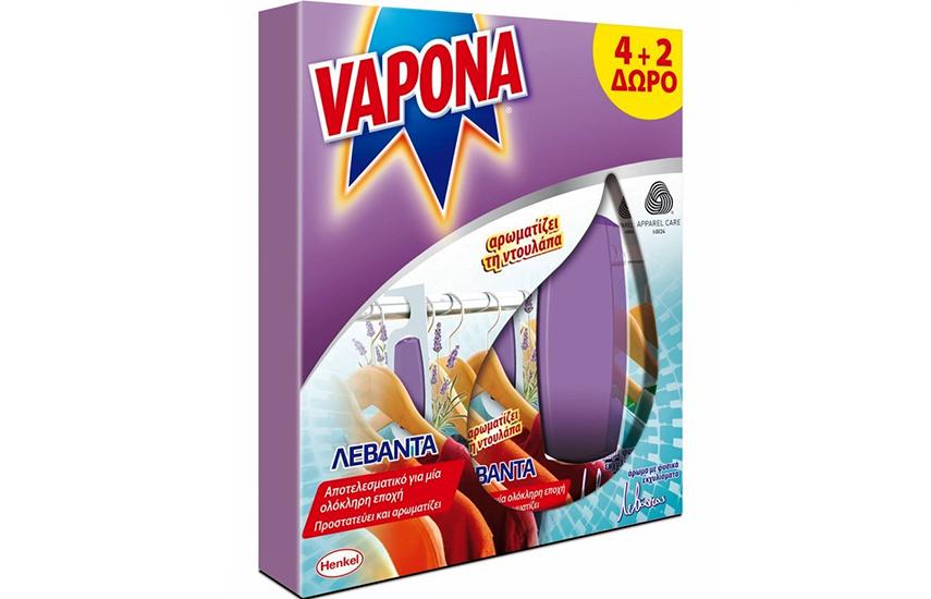 VAPONA Σκοροκτόνo Gel Λεβάντα 6-12-18 τεμαχίων! 50% έκπτωση, η καλύτερη τιμή της αγοράς (από 0,53€/τεμ)! Κρατήστε μακριά τον σκόρο για πάντα! Αποτελεσματική προστασία για μια ολόκληρη σεζόν!