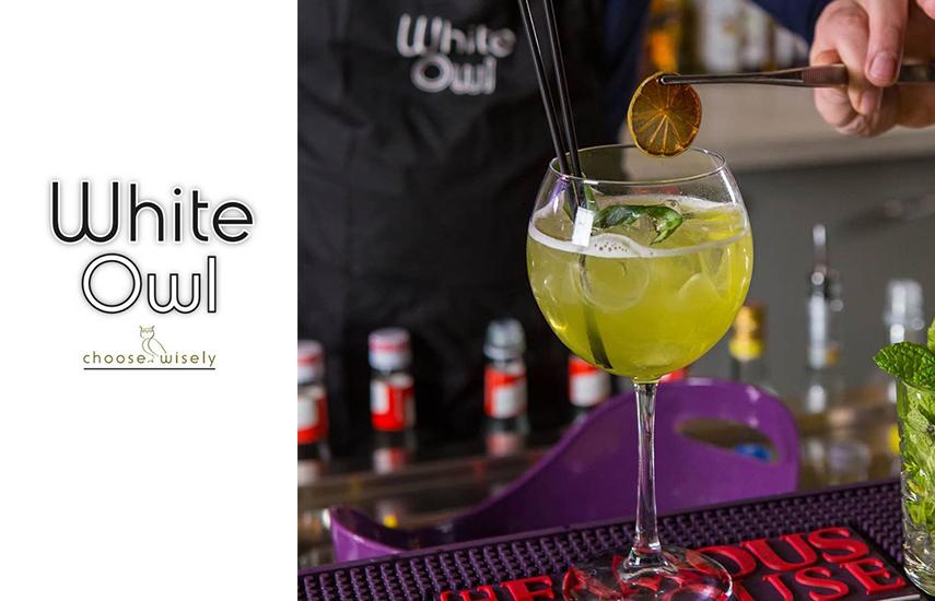 9€ από 18€ για 2 cocktails της επιλογής σας στο ''White Owl'', το νέο All Day Cafe-Bar-Restaurant των Βορείων προαστίων που ξεχωρίζει, στους Θρακομακεδόνες
