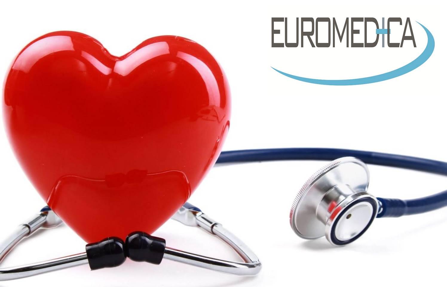 40€ από 115€ για πλήρη καρδιολογικό έλεγχο (Ηλεκτροκαρδιογράφημα, Triplex καρδιάς, εξέταση από καρδιολόγο) στην EUROMEDICA σε Κηφισιά-Χαλάνδρι-Γαλάτσι-Αγία Παρασκευή