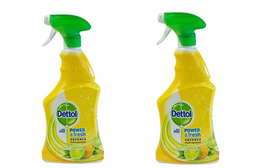 DETTOL Απολυμαντικό πολυκαθαριστικό Spray Γενικής Χρήσης Sparkling Lemon & Lime Burst: 12€ για 2 συσκευασίες 500ml που εξουδετερώνουν το 99,9% των μικροβίων