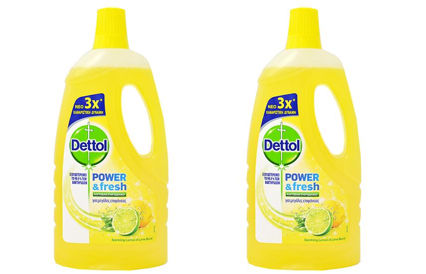 DETTOL Απολυμαντικό Καθαριστικό Πατώματος Sparkling Lemon: 11€ για 2 συσκευασίες 1lt με το νέο πρωτοποριακό προϊόν που εξουδετερώνει το 99,9% των μικροβίων