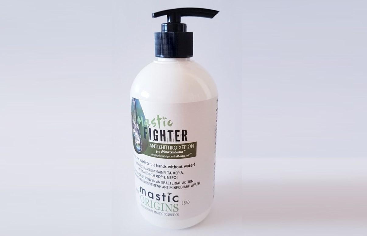 Αντισηπτικό Χεριών Mastic Fighter με Μαστιχέλαιο & Αλόη: Από 7€ για συσκευασίες 1L με φυσικά συστατικά & 70% αλκοόλη, για αξιοσημείωτη αντιβακτηριακή δράση. Καθαρίζει και απολυμαίνει τα χέρια με μία κίνηση χωρίς νερό!
