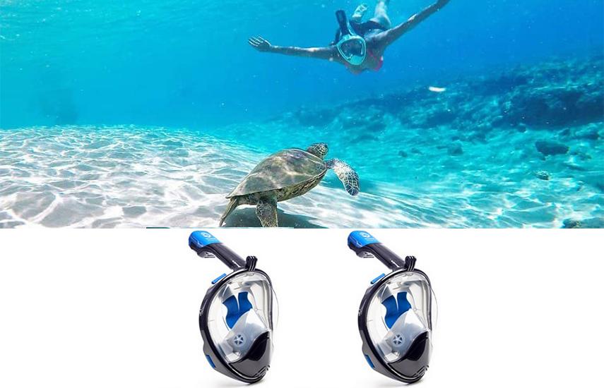 27,9€ από 84€ για αντιθαμβωτική Full Face Μάσκα Θαλάσσης με Ενσωματωμένο Αναπνευστήρα, Βάση για Action Camera & Εμβέλεια Όρασης 180°! Μια επαναστατική μάσκα ιδανική για Κατάδυση & όσους λατρεύουν τη θάλασσα!