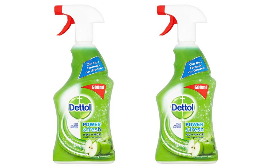 DETTOL Απολυμαντικό πολυκαθαριστικό Spray Γενικής Χρήσης Green Apple: 9,9€ για 2 συσκευασίες 500ml που εξουδετερώνουν το 99,9% των μικροβίων