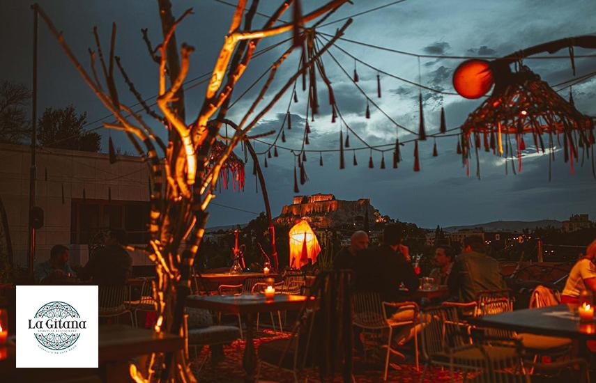 29,9€ από 46€ για πλήρες menu 2 ατόμων στο ολοκαίνουργιο restaurant ''La Gitana Athens'' με θέα Ακρόπολη και Λυκαβηττό! ...για αξέχαστα boho style καλοκαιρινά βράδια διασκέδασης!