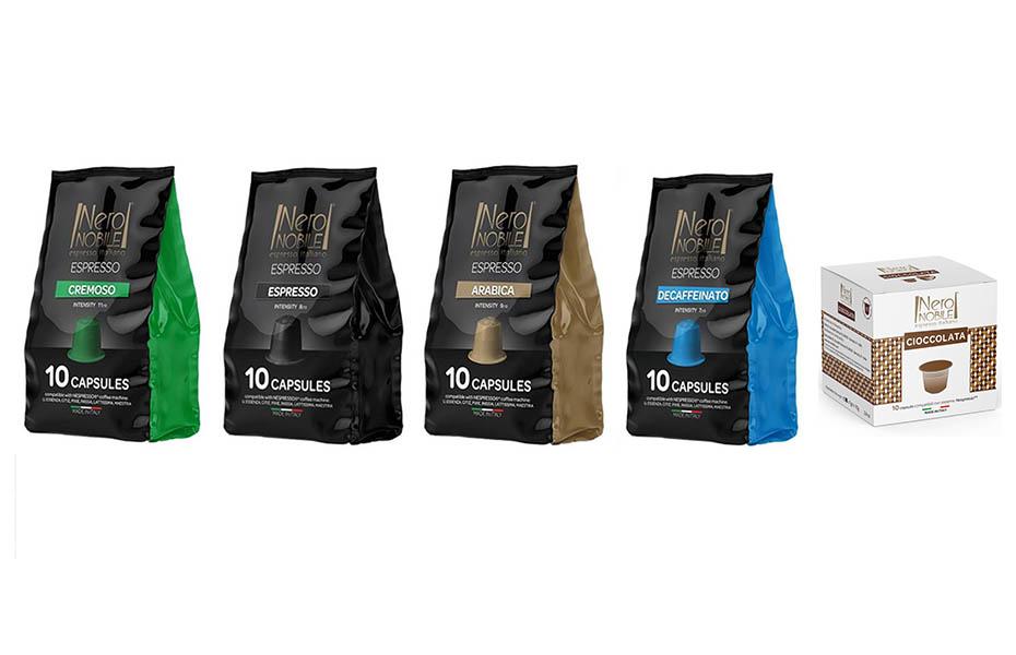 Ιταλικές Κάψουλες ΚΑΦΕ & ΣΟΚΟΛΑΤΑΣ συμβατές με μηχανές NESPRESSO: Η Καλύτερη τιμή της αγοράς (από 0,21/κάψουλα)! Απολαύστε αρωματικό Ristretto ή Espresso ή Lungo, από τη NeroNobile, την ηγέτιδα εταιρία στην Ιταλική βιομηχανία καφέ!