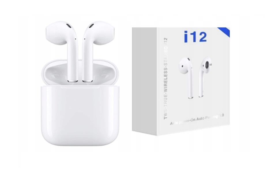 7,4€ από 49,9€ για τα γνήσια νέας γενιάς Ασύρματα Ακουστικά Bluetooth I12 με μπαταρία 35mAh+300mAh, τεχνολογίας Smart Touch, με Βάση Φόρτισης & εμβέλεια +15m
