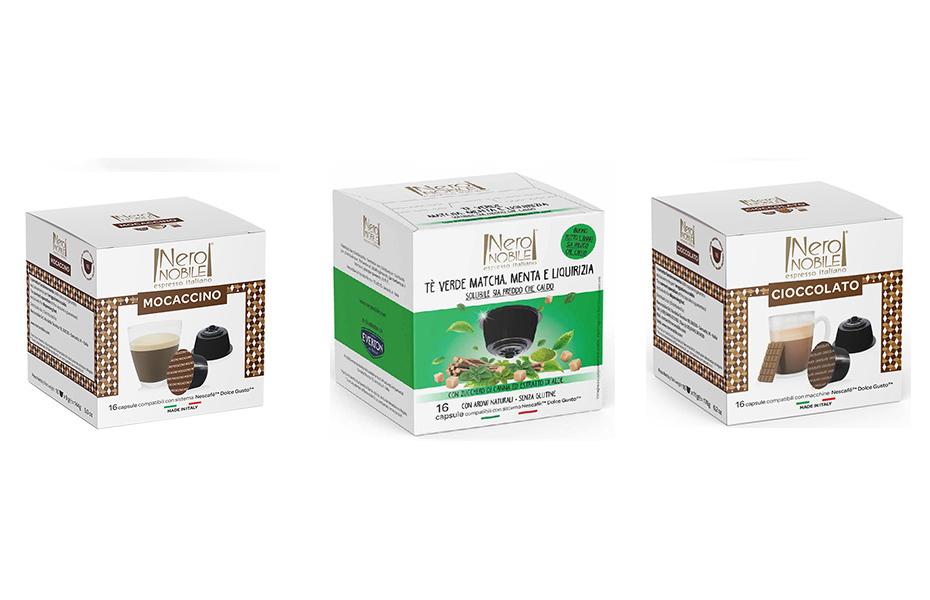 Μοcaccino, Cioccolato & Green Tea Lemon για μηχανές DOLCE GUSTO: Η Καλύτερη τιμή της αγοράς! Απολαύστε τα αγαπημένα σας ροφήματα από τη NeroNobile, την ηγέτιδα εταιρία στην Ιταλική βιομηχανία ροφημάτων!