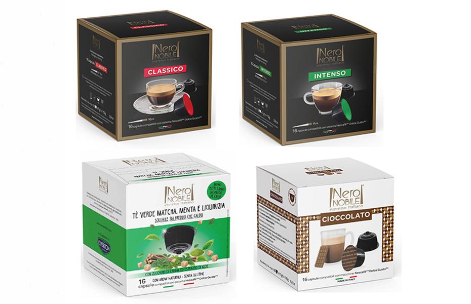 Ιταλικές Κάψουλες ΚΑΦΕ & ΡΟΦΗΜΑΤΩΝ συμβατές με μηχανές DOLCE GUSTO: Η Καλύτερη τιμή της αγοράς (από 0,249€/κάψουλα)! Απολαύστε αρωματικό Ristretto ή Espresso ή Lungo, από τη NeroNobile, την ηγέτιδα εταιρία στην Ιταλική βιομηχανία καφέ!
