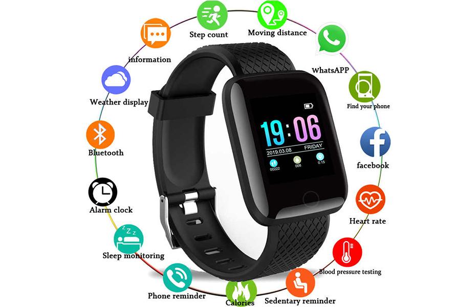 12€ από 19,9€ για αδιάβροχο Ρολόι Smart Watch & Activity Tracker D13, ιδανικό για αθλητικές δραστηριότητες & τη διαχείριση της υγείας σας, με 20 διαφορετικές λειτουργίες για όλες τις ανάγκες υγείας, άθλησης & επικοινωνίας
